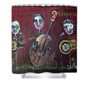 Olde Town Swing Band Shower Curtain