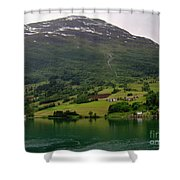 Olden Fjord, Norway Shower Curtain