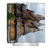 Oldest Church In Norway Shower Curtain