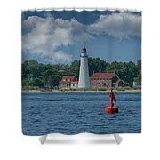 Oldest Lighthouse In Michigan Shower Curtain