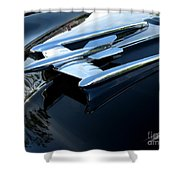 Old's 88 Hood Ornament  Shower Curtain
