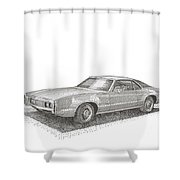 Oldsmobile Tornado S C Shower Curtain