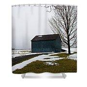 Ole Blue Shower Curtain