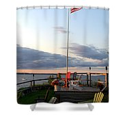 Ole Glory At Rossetti Point  Shower Curtain