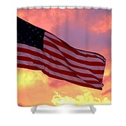 Ole Glory Shower Curtain