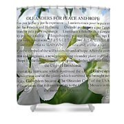 Oleanders For Peace And Hope Shower Curtain