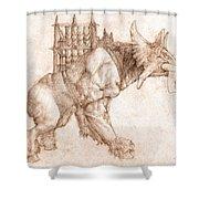 Oliphaunt Shower Curtain by Curtiss Shaffer