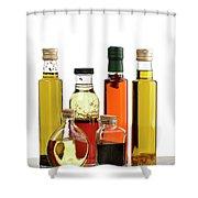 Olive Oil,salad Dressing And Vinegar Shower Curtain