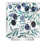 Olive Watercolor 2018 Shower Curtain