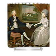 Oliver And Abigail Wolcott Ellsworth 1801 Shower Curtain