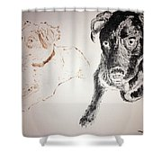 Oliver And Fury Commission Shower Curtain
