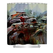 Oliver Stacks Shower Curtain