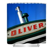 Oliver Tractor Nameplate Shower Curtain
