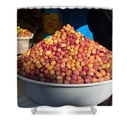 Olives For Sale In Market, Essaouira Shower Curtain