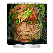 Olmec Man Shower Curtain