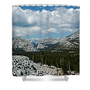 Olmsted View Down The Tree Filled Road Shower Curtain