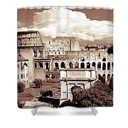 Colosseum From Roman Forums  Shower Curtain