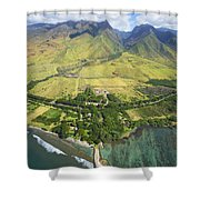 Olowalu Aerial Shower Curtain