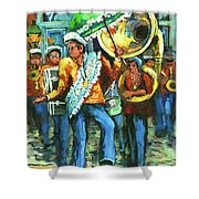 Olympia Brass Band Shower Curtain