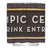 Olympic Center 1932 Rink Entrance Shower Curtain