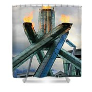 Olympic Flame Shower Curtain