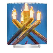 Olympic Gold Shower Curtain