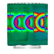 Olympic Green Shower Curtain