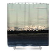 Olympic Mountains Shower Curtain