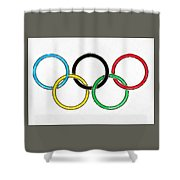 Olympic Rings Pencil Shower Curtain