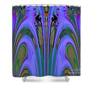 Olympic Torch And Fireworks Fractal 162 Shower Curtain