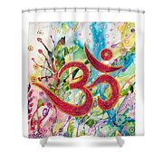 Om In Nature Shower Curtain