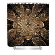 Om Particles Shower Curtain