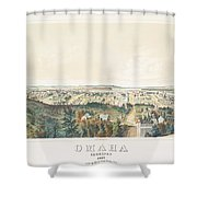 Omaha, Nebraska Looking North From Forest Hill 1867 Shower Curtain