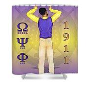 Omega Psi Phi Shower Curtain