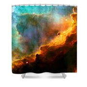 Omega Swan Nebula 3 Shower Curtain by Jennifer Rondinelli Reilly - Fine Art Photography