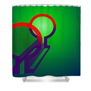Omega Xfers Shower Curtain