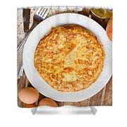 Omelette Tortilla Shower Curtain