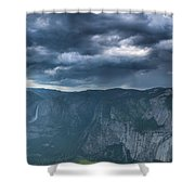 Ominous Clouds Over Glacier Point Shower Curtain