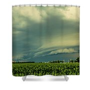 Ominous Nebraska Outflow 001 Shower Curtain