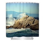 On A Clear Day Cropped Shower Curtain
