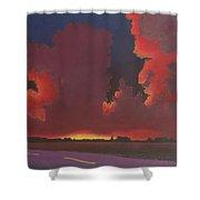 On A Dark Desert Highway Shower Curtain