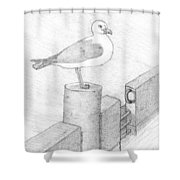 On A Perch Shower Curtain
