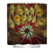 On A Windy Autumn Day Shower Curtain