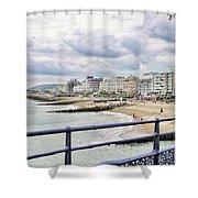 On Brighton's Palace Pier Shower Curtain