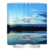 On Broken Bow Lake Shower Curtain