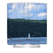 On Cayuga Lake Shower Curtain