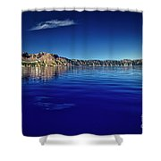 On Crater Lake Shower Curtain