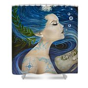 On Deck Moby Dick Shower Curtain