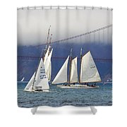 On Frisco Bay Shower Curtain