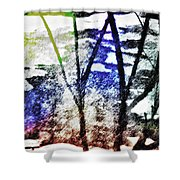 On Frozen Pond Shower Curtain